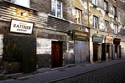 Reconstructed jewish shops in Kasimierz